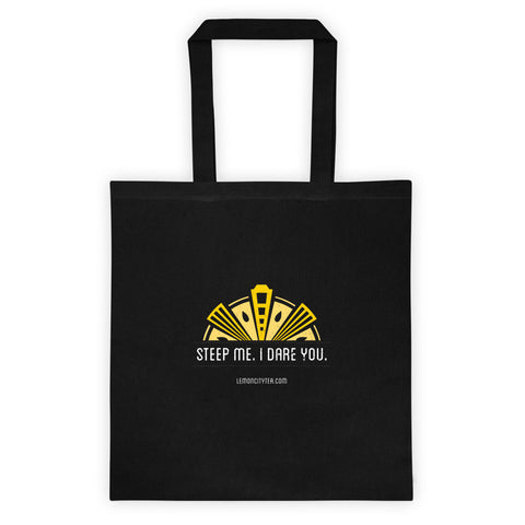 Black Tote bag- Steep Me