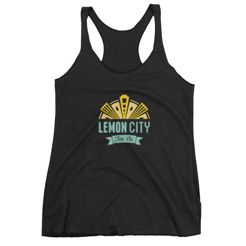 Come Steep with Us- Women's racerback tank top