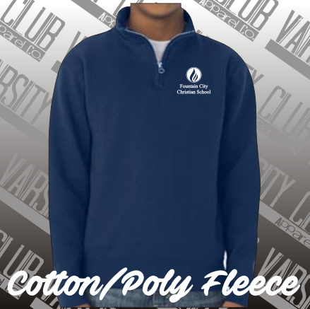 FCC - 995MR - Cadet Collar Fleece, Navy