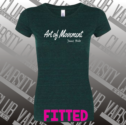 AMDS - 8413 - Women's Fitted Emerald Triblend Tee