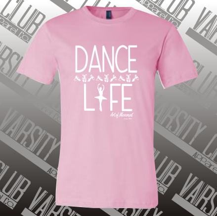 AMDS - PC54 - Candy Pink Unisex Dance Life Tee