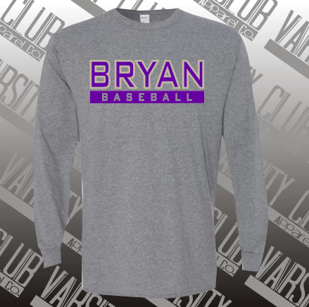BBL - 5400 - Long Sleeve 50/50 Tee - Graphite Heather