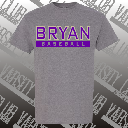 BBL - 8000 - Cotton/Poly Blend Tee - Graphite Heather