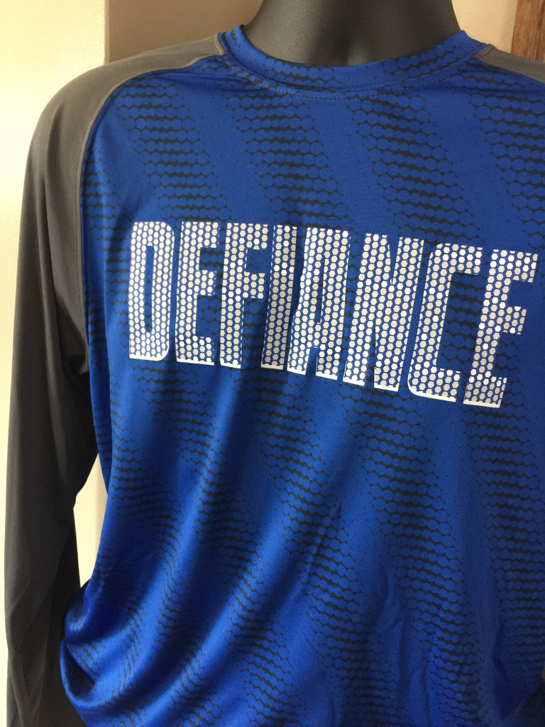 CLOSEOUT - * Youth Small * Defiance Torpedo Performance Long Sleeve Tee, Slim Fit