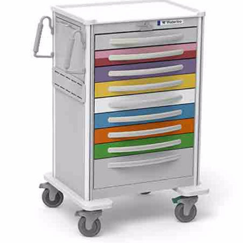 9-Drawer X-Tall Aluminum Pediatric Cart