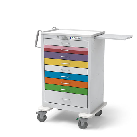 9-Drawer Tall Steel Pediatric Cart