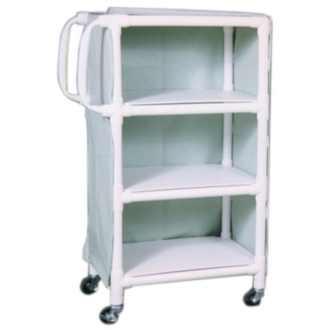 Large 3 Shelf PVC Linen Cart