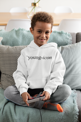 Young Icon (Black Font) Kids Hoodie