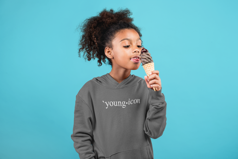 Young Icon (White Font) Kids Hoodie