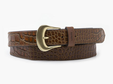 Vintage Crocodile Emboss Belt