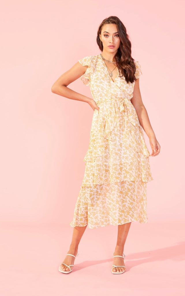 MINK PINK Lana Midi Dress