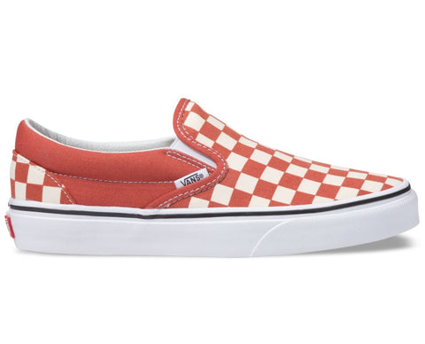 VANS Checkerboard Classic Slip On Hot Sauce
