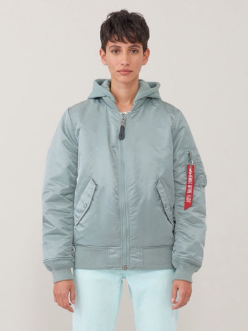ALPHA INDUSTRIES MA-1 Natus W Silver Blue Flight Jacket