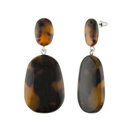 Grande Drop Earrings in Classic Tortoise