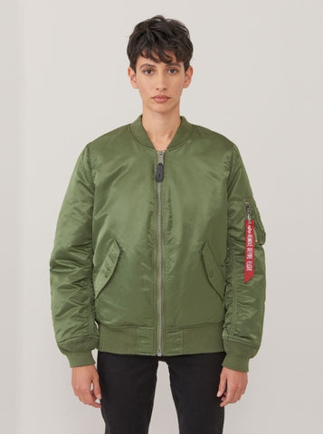 ALPHA INDUSTRIES MA-1 W Sage Green Flight Jacket