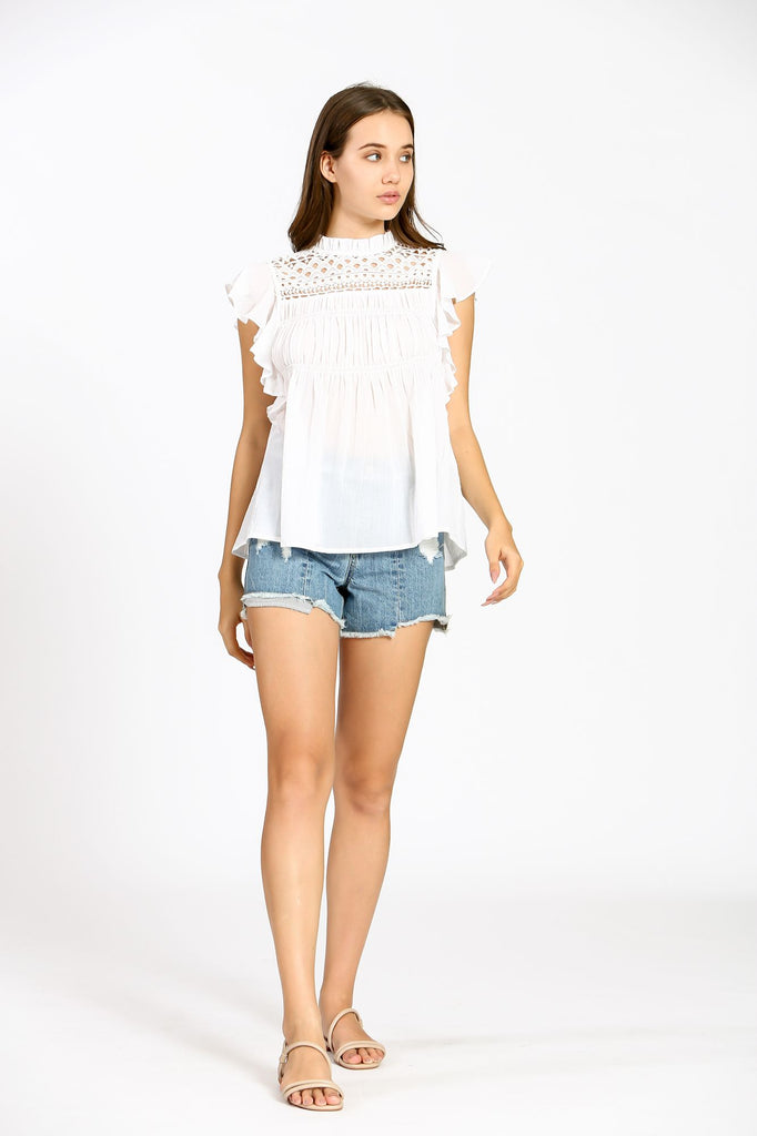 Emilie Embroidered Top