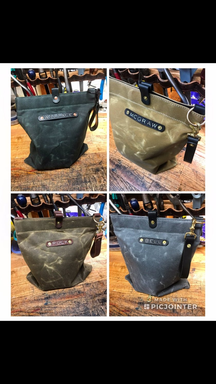 Waxed Canvas Mask Bags