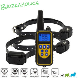 P776R Rechargeable Waterproof Remote E-Collar with Shock & Vibration for 1/2/3 Dogs 800m
