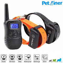 300m • PET998DB Remote Training Shock Collar for 1/2 Dogs