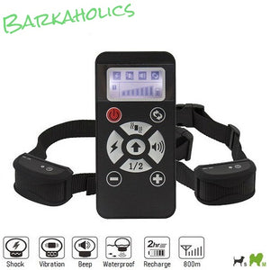 P160R 2in1 Rechargeable Waterproof Remote E-Collar & Bark Collar for 1/2 Dogs 800m