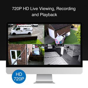 SANNCE 4CH 1080N DVR Security Camera CCTV System 4pcs 720P Cameras P2P Indoor Outdoor Video Surveillance Kit