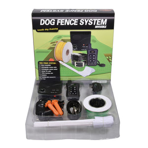 DF113R 2in1 Invisible Electric Dog Fence Remote Trainer 1/2/3 Dogs 1200m