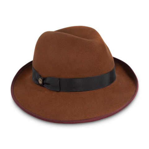 Grateful Carmel Felt Fedora Wool Hat