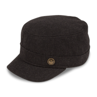 Invincible City Wool Hat in Black