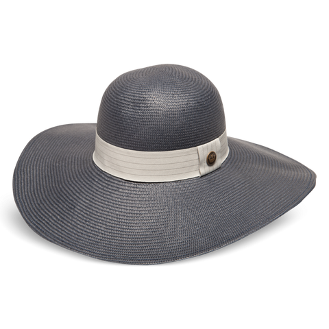 Inspiration Grey Straw Floppy Hat