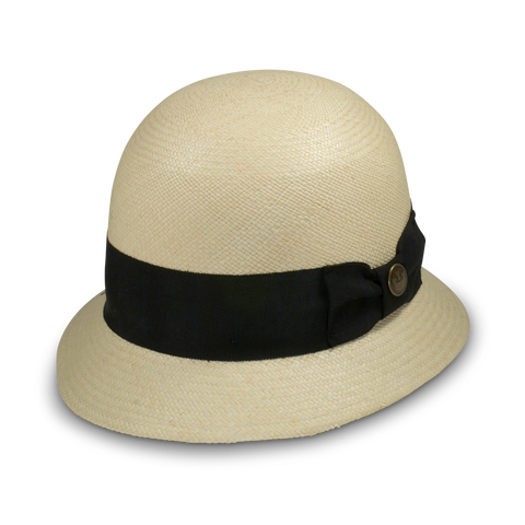 Illuminated Black and White Straw Hat