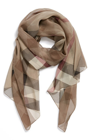 Secure Burberry Silk Head Scarf