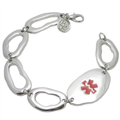 Classic Silver Medical ID Bracelet