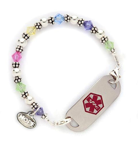 Glam Girls Medical ID Beaded Bracelet