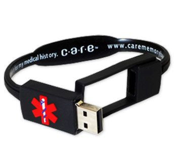 Priceless USB Medical Information Bracelet