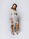 Ivory Lace Short Wrap Dress