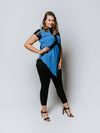 Wanita lady Top Blue
