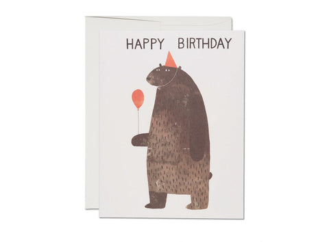 "Party Bear: ""happy birthday"""