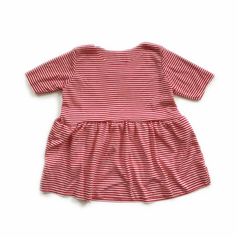 Peplum Top, Red Stripe