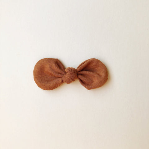 Knotted Bow Clip, Rust