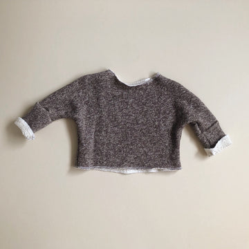 FINAL FEW! Oversize Boxy Sweater, Heathered Mocha