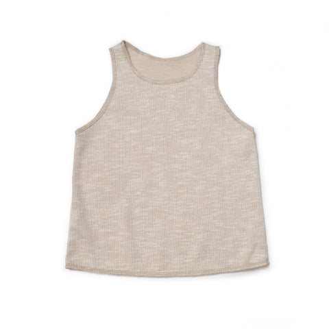 Basic Unisex Tank, Bone Ribbed