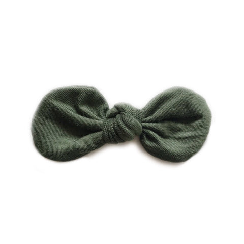 Knotted Bow Clip, Forest