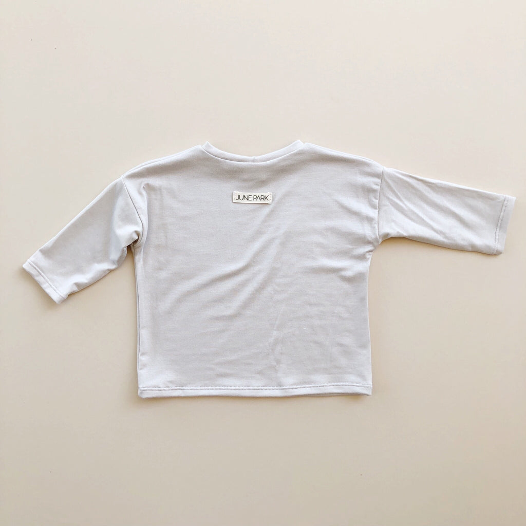 Boxy Tee, Long Sleeve, Shell