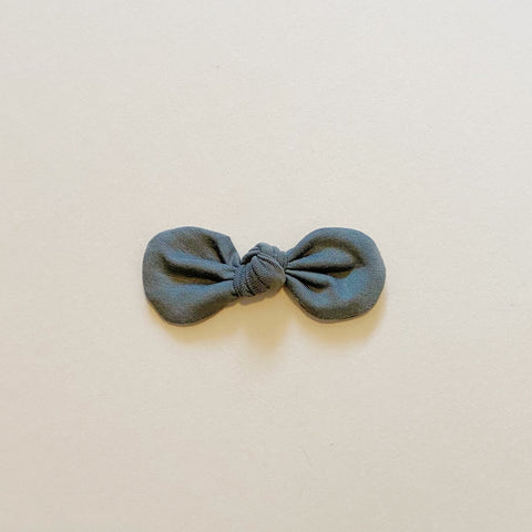 Knotted Bow Clip, Eucalyptus