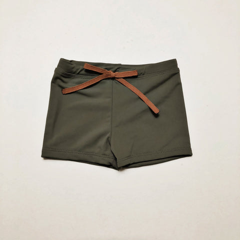 Euro Swim Shorts, Kelp