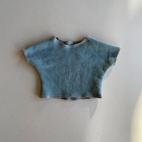 Doll: Organic French Terry Short Sleeve Sweater, Sea