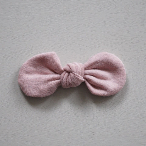Knotted Bow Clip, Heathered Blush