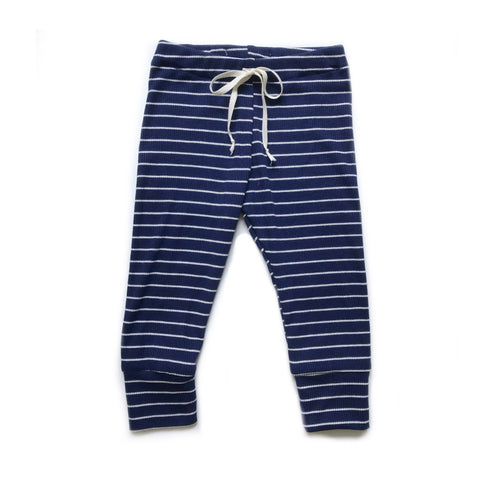 FINAL FEW! Knit Leggings, Navy and White Stripe