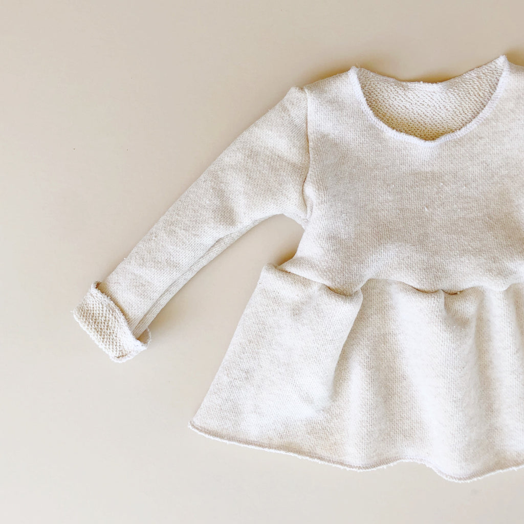 FINAL FEW! Cozy Peplum Sweater, Oatmeal
