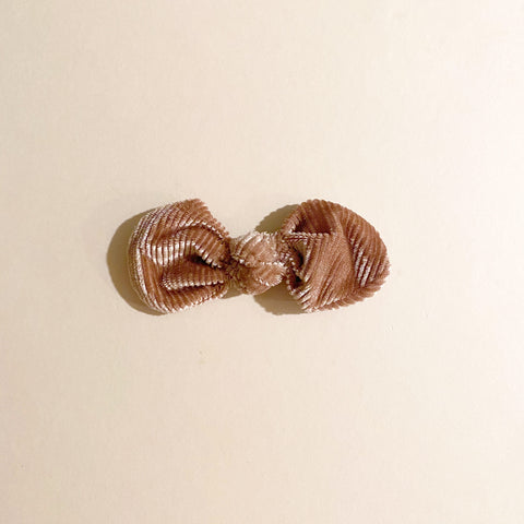 Knotted Bow Clip, Blush Velvet